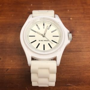Nine West White Rubber Style Watch